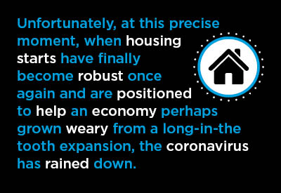 A Shame about Housing Starts ‒ They Began 2020 in Great Shape Graphic