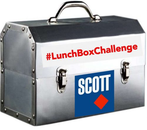 The #LunchBoxChallenge encourages companies to buy their crews lunch from a local restaurant, post it on social media and then challenge others to do the same.