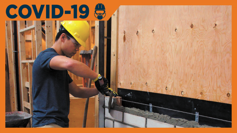 Industry advocates are applauding the provincial government's recently announced Ontario Tools Grant, which will provide $2.5 million in 2020-21 and $7.5 million in 2021-22, allowing new, eligible apprentices to purchase tools, protective equipment and clothing required for their trade. Pictured is a student of the Residential Bricklaying Program at the Skilled Trades College Canada.