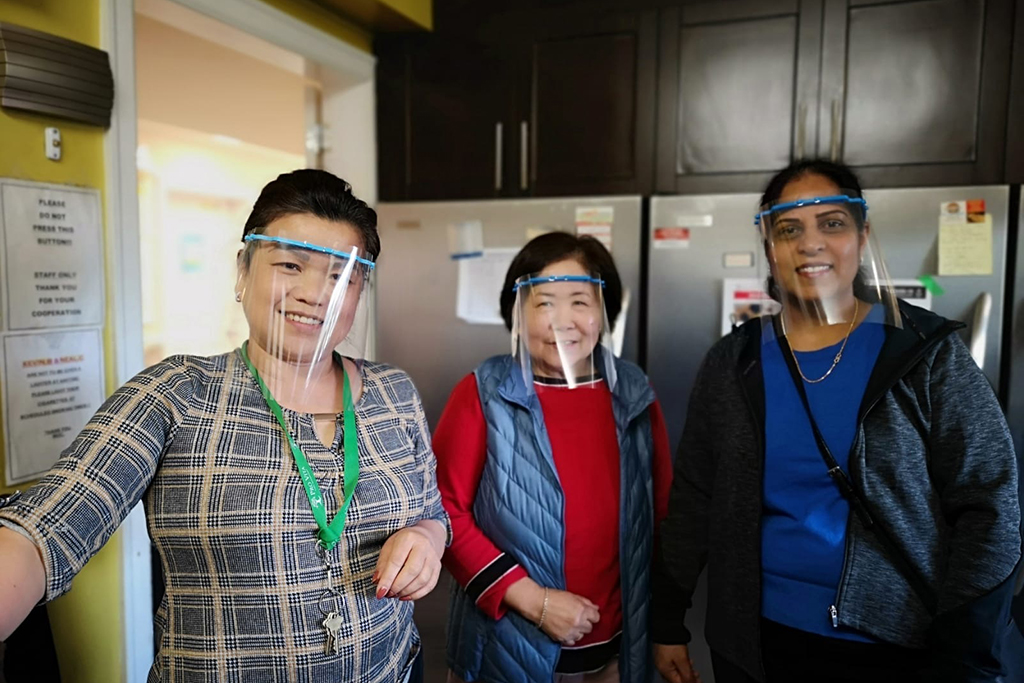 Staff at the New Greenwood Lodge are using 3D printed facemasks to safely work during the COVID-19 pandemic.