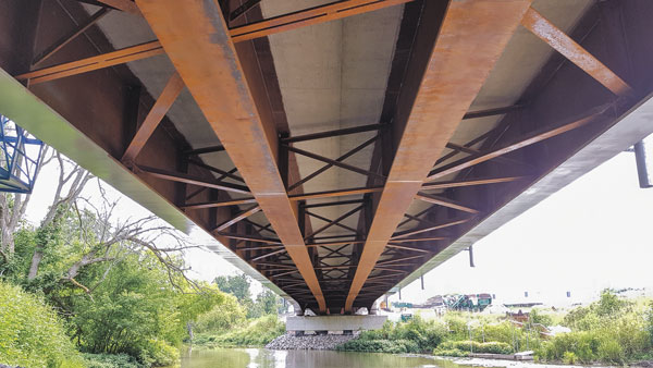 The soffit of the west span of the new Reece Bridge.