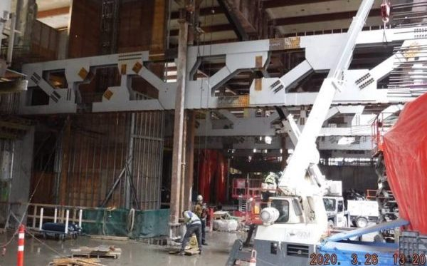 The former home of Canada Post's downtown Vancouver headquarters is being modernized with new steel trusses installed by Supermetal while still retaining the building's heritage face.