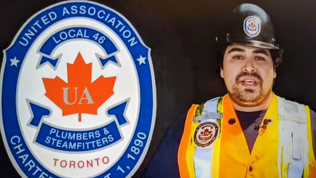 Plumbing apprentice shares journey at virtual First Nations conference
