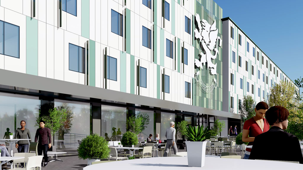 Quick student residence build uses steel modular tech