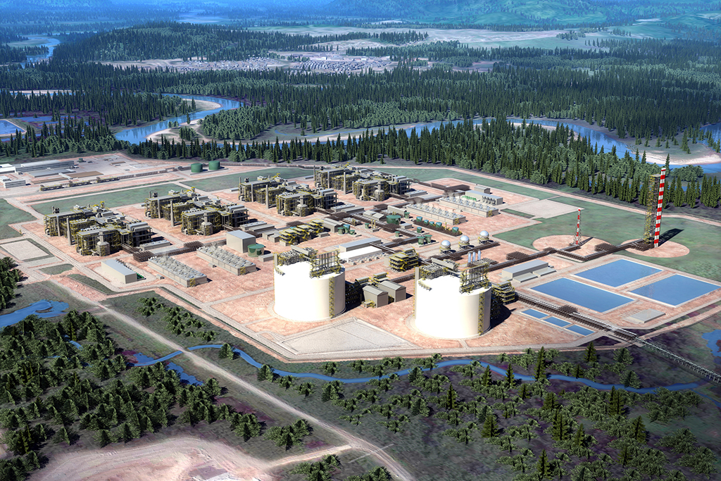 A rendering shows the completed LNG Canada project in Kitimat, B.C. A recent Conference Board of Canada report said the industry has the potential to create large-scale benefit across Canada's economy.