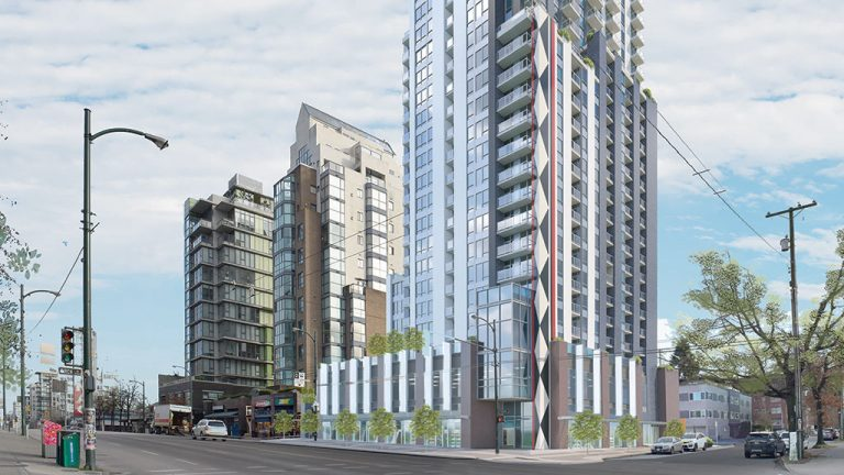 A proposed 28-storey tower on Vancouver's Broadway corridor has been approved by city council, but some neighbourhood groups oppose what will be the area's tallest structure.