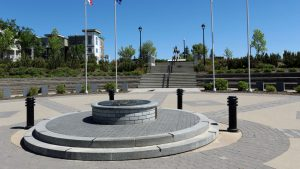 Princess Patricia's military memorial, Aga Khan garden, honoured by Alberta Masonry Council