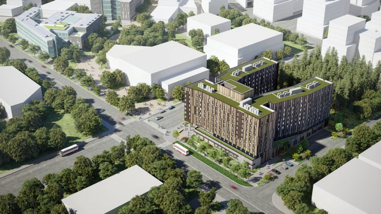 Delivery of the new residence hall for the University of Toronto Scarborough is targeted for the fall 2023 semester.