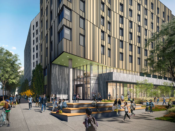Construction will start later this summer on a new 265,000-square-foot residence hall for the University of Toronto Scarborough on Ellesmere Road in Toronto. The owner and the contractor Pomerleau are aiming to achieve Passive House efficiency standards.