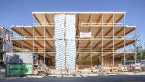 Fast + Epp's mass timber headquarters hits major construction milestone