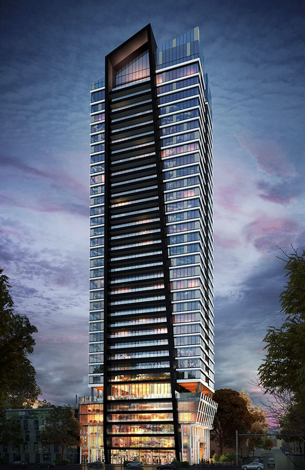 Broccolini's new 34-storey LeftBank condo tower planned for River Street in Toronto was designed by IBI Group.