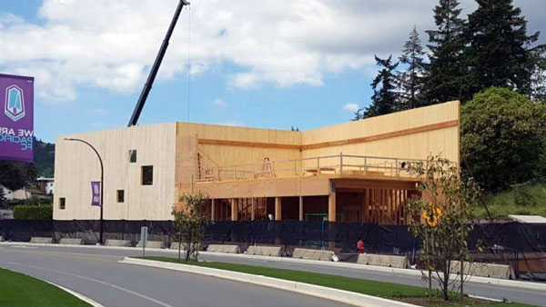 Langford, B.C. build one of Canada's first mass timber warehouses using CLT