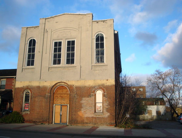 The new owner of the Oddfellows Hall building in Mississauga, Ont., Praveen Manchanda, commissioned Arcana Restoration to restore the structure for probable commercial use. It's pictured in 2012.