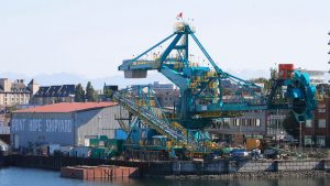 Giant stacker-reclaimer makes move from Victoria to Vancouver