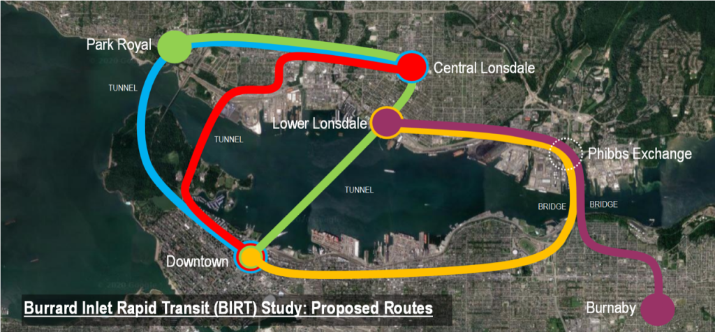 Study proposes rapid transit crossing for Burrard Inlet