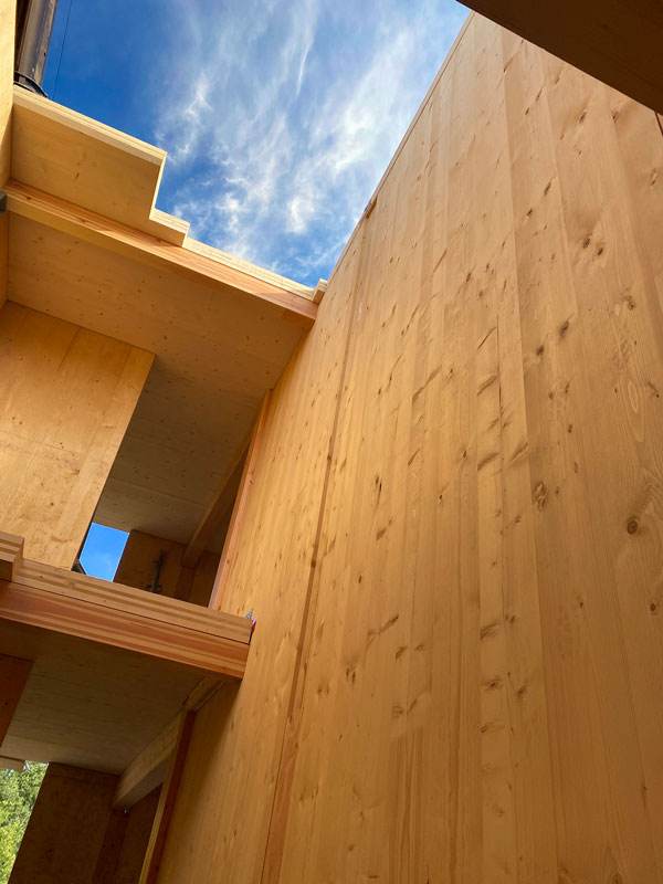 Gage Metal Cladding Limited, CMV Architects and Timber Systems designed the details for the wall system on the six-storey mass timber residential building in Toronto. Moses Structural Engineers is the structural engineer for the project.