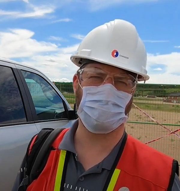 Chandos Construction COO Sean Penn films a vlog while on a countrywide road trip to visit employees during the COVID-19 crisis.
