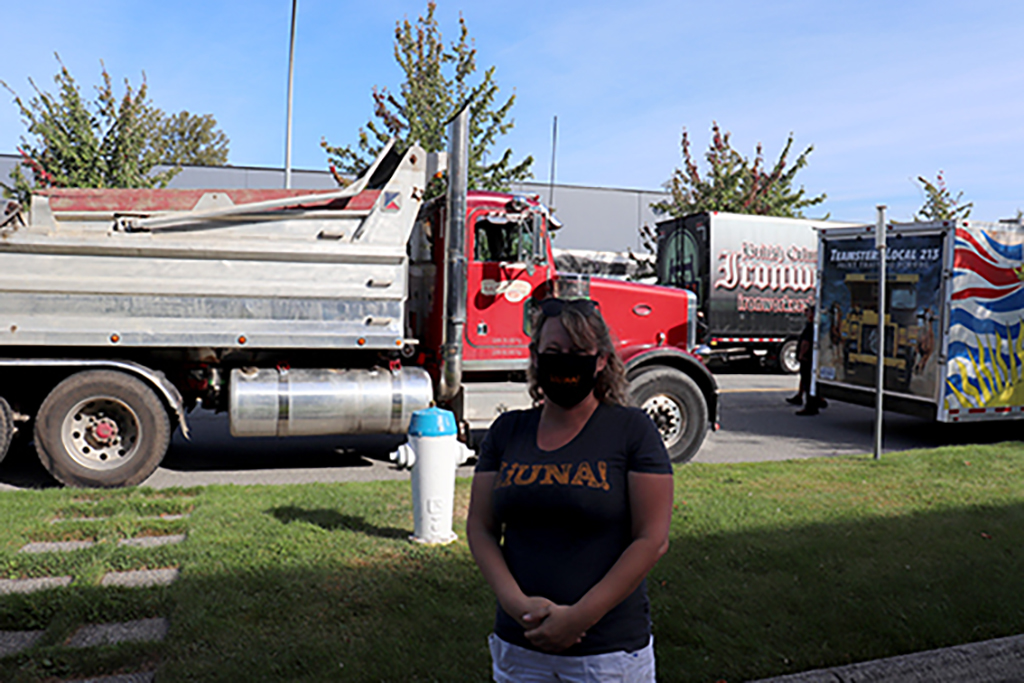 LiUNA volunteered traffic management for convoy for web