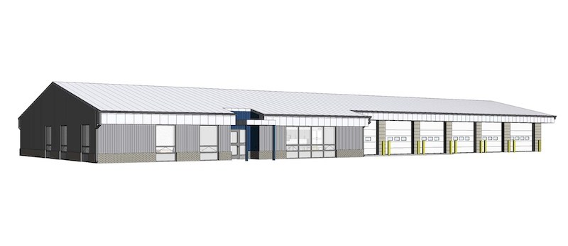A rendering shows plans for a new EMS facility in Selkirk, Man. The $4.2-million project is currently under construction.
