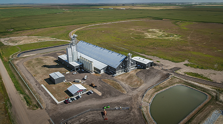 Crews have wrapped up work on the Co-op Fertilizer Terminal in southern Alberta. The terminal will provide products to the region's agricultural industry.