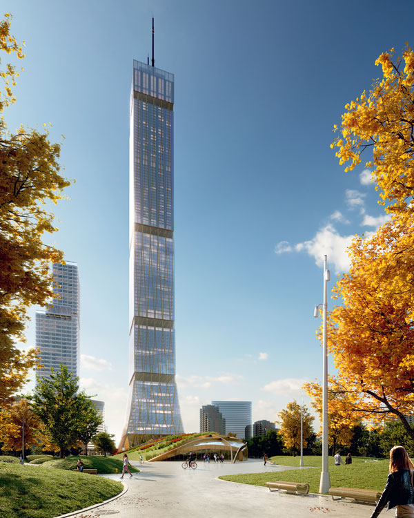"""Dialog's hybrid timber tower prototype was created, says company founder Craig Appelgath, to answer this question: """"How can we design a 'supertall' building that maximizes the overall use of sustainably harvested wood in high-rise construction in the most cost efficient, energy efficient and elegant manner, and also has a positive impact on human well-being, and the well-being of the environment?"""""""